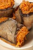 Ρόλοι μελιτζανών με το καρότο Στοκ φωτογραφίες με δικαίωμα ελεύθερης χρήσης