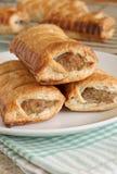 Ρόλοι λουκάνικων χοιρινού κρέατος στοκ εικόνα