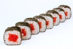 Ρόλοι σουσιών με τα ψάρια τόνου Στοκ εικόνα με δικαίωμα ελεύθερης χρήσης