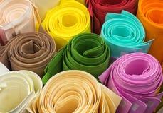 Ρόλοι του χρωματισμένου εγγράφου Στοκ εικόνα με δικαίωμα ελεύθερης χρήσης