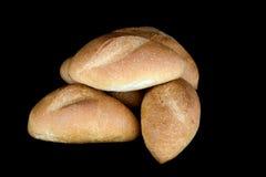 Ρόλοι ψωμιού που απομονώνονται στο Μαύρο Στοκ φωτογραφίες με δικαίωμα ελεύθερης χρήσης