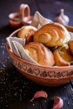 Ρόλοι ψωμιού σκόρδου Στοκ φωτογραφίες με δικαίωμα ελεύθερης χρήσης