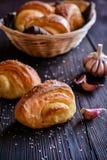 Ρόλοι ψωμιού σκόρδου Στοκ Φωτογραφίες