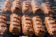 Ρόλος κρέατος στη σχάρα Στοκ εικόνες με δικαίωμα ελεύθερης χρήσης