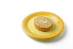 Ρόλος μαρμελάδας στο πιάτο Στοκ Εικόνες