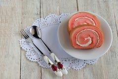 Ρόλος μαρμελάδας φραουλών Στοκ Εικόνες
