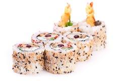 Ρόλος με το srimp και το σουσάμι Στοκ Φωτογραφίες