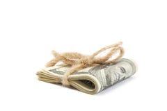 Ρόλος των χρημάτων που απομονώνονται στο άσπρο υπόβαθρο Στοκ Φωτογραφία
