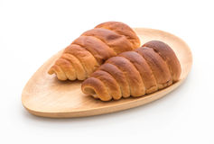 ρόλος ψωμιού με την κρέμα Στοκ Εικόνες