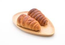 ρόλος ψωμιού με την κρέμα Στοκ εικόνα με δικαίωμα ελεύθερης χρήσης