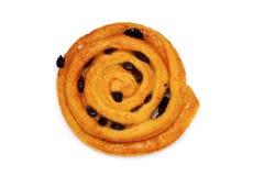 Ρόλος ψωμιού σταφίδων κανέλας Στοκ Εικόνες
