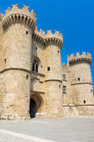 Ρόδος Castle Ελλάδα Ευρώπη Στοκ Φωτογραφία