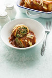 Ρόλος Lasagna επάνω Στοκ Εικόνα