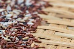 Ρύζια μιγμάτων στο αλώνισμα του καλαθιού Στοκ Φωτογραφία