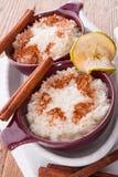 Ρύζι γάλακτος με την κανέλα Στοκ Φωτογραφία