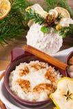 Ρύζι γάλακτος με την κανέλα Στοκ εικόνα με δικαίωμα ελεύθερης χρήσης