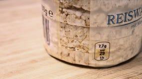 ρύζι κέικ Στοκ Φωτογραφία