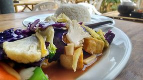 Ρύζι και λαχανικά Στοκ εικόνες με δικαίωμα ελεύθερης χρήσης