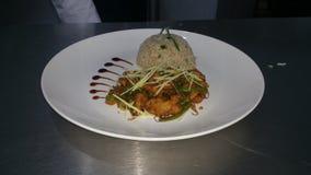 ρύζι και κοτόπουλο τσίλι ραχών pice Στοκ Φωτογραφία