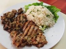 Ρύζι και κοτόπουλο Στοκ φωτογραφία με δικαίωμα ελεύθερης χρήσης