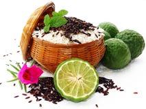 Ρύζι και μούρο ρυζιού Στοκ Εικόνες