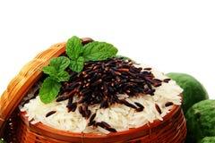 Ρύζι και μούρο ρυζιού Στοκ εικόνα με δικαίωμα ελεύθερης χρήσης