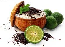 Ρύζι και μούρο ρυζιού Στοκ Φωτογραφίες