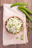 Ρύζι και μπιζέλι, risotto Στοκ φωτογραφία με δικαίωμα ελεύθερης χρήσης