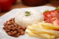 Ρύζι και φασόλια Στοκ Φωτογραφίες