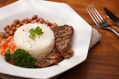 Ρύζι και φασόλια Στοκ εικόνα με δικαίωμα ελεύθερης χρήσης