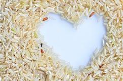 Ρύζι καρδιών πλαισίων συνόρων Στοκ Εικόνα
