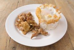 Ρύζι κοτόπουλου σκόρδου Στοκ Εικόνα