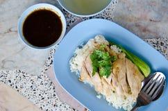 Ρύζι κοτόπουλου Hainanese στοκ εικόνες