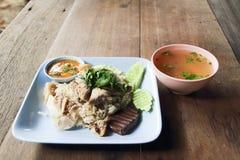 Ρύζι κοτόπουλου Hainanese Στοκ εικόνες με δικαίωμα ελεύθερης χρήσης