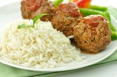 ρύζι κρέατος σφαιρών Στοκ Φωτογραφία