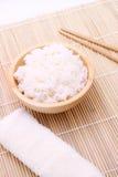 ρύζι κύπελλων ξύλινο Στοκ φωτογραφίες με δικαίωμα ελεύθερης χρήσης