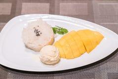 ρύζι μάγκο κολλώδες Στοκ Εικόνα