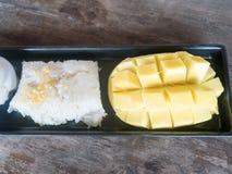 ρύζι μάγκο κολλώδες Στοκ Φωτογραφία
