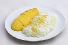 ρύζι μάγκο κολλώδες Στοκ Εικόνες