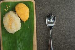 ρύζι μάγκο κολλώδες Στοκ φωτογραφία με δικαίωμα ελεύθερης χρήσης