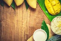 ρύζι μάγκο κολλώδες στοκ εικόνες με δικαίωμα ελεύθερης χρήσης