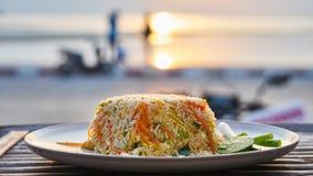 Ρύζι με τα λαχανικά και tofu Στοκ φωτογραφία με δικαίωμα ελεύθερης χρήσης