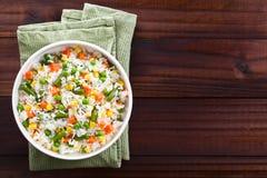 Ρύζι με τα λαχανικά στοκ εικόνες