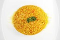 Ρύζι με την κολοκύθα και gorgonzola το τυρί - παραδοσιακά τρόφιμα Στοκ εικόνα με δικαίωμα ελεύθερης χρήσης