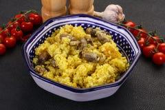 Ρύζι με τις καρδιές κοτόπουλου στοκ φωτογραφία με δικαίωμα ελεύθερης χρήσης