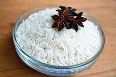 Ρύζι με το γλυκάνισο αστεριών Στοκ Εικόνες