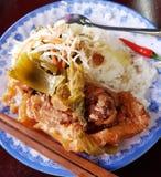 Ρύζι με το κρέας χοιρινού κρέατος Στοκ φωτογραφία με δικαίωμα ελεύθερης χρήσης