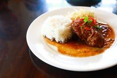 Ρύζι με το κρέας Στοκ Εικόνες
