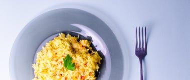 Ρύζι με το κρέας, plov Στοκ Φωτογραφίες