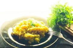 Ρύζι με το κρέας, plov Στοκ φωτογραφία με δικαίωμα ελεύθερης χρήσης